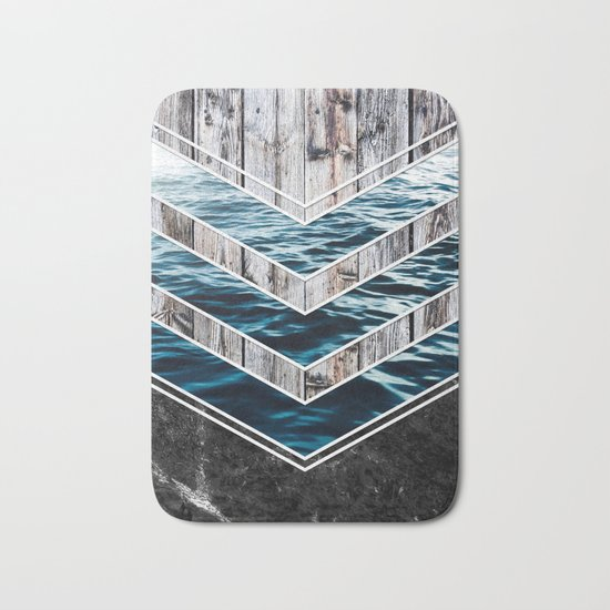 Striped Materials of Nature III Bath Mat