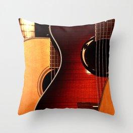 Guitars Throw Pillow