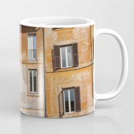 A beautiful streetview of the old orange houses in Rome, Italy  | Color Photography | Travel Photography | Street Photography | Photo Print | Art Print Coffee Mug