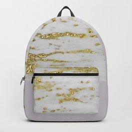 Gold faraldi and smokey lilac marble Backpack