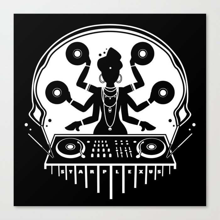 Disco Shiva Canvas Print