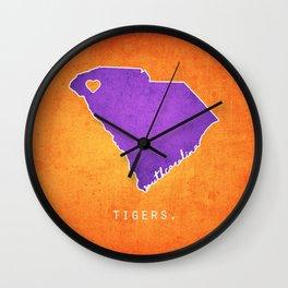 Clemson Tigers Wall Clock