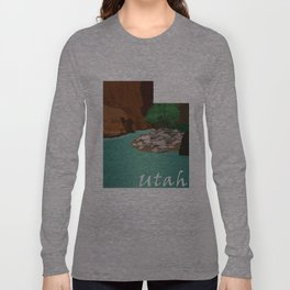 Utah: The Narrows Long Sleeve T-shirt