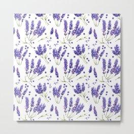 Lavender Purple Dream Watercolor Pattern Metal Print