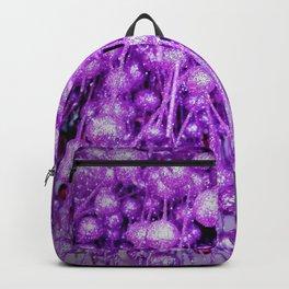 purple brocade balls Backpack