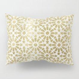 Hara Tiles Gold Pillow Sham