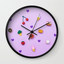 pattern of sweets Wall Clock
