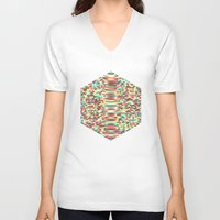 law V-neck T-shirts featuring Faraday's Law by Donovan Justice
