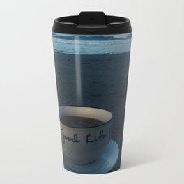 GOOD LIFE COFFEE by the beach Metal Travel Mug