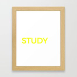Student Study College Product, School Library Nerd Graphic Framed Art Print