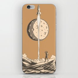 Rocket Moon iPhone Skin