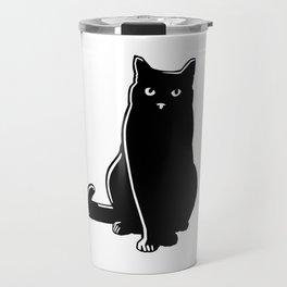 Cat Black Silhouette Pet Animal Cool Style Travel Mug