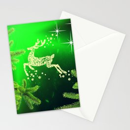 Christmas reindeer happy decoration Stationery Cards
