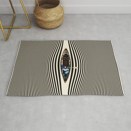 Illusionary Canoe Ride Rug