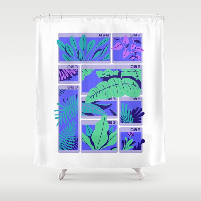 CWINDOWSTROPICAL Shower Curtain By Paperbeatsscissors