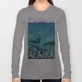 Alaska State Poster Long Sleeve T-shirt