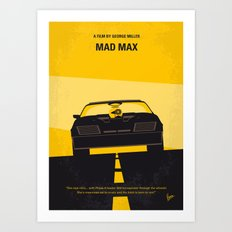 No051 My Mad Max 1 minimal movie poster Art Print