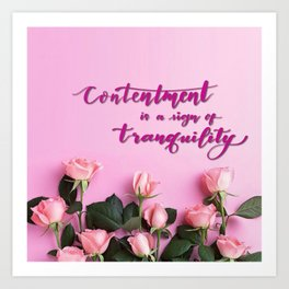 HandLettering - Contentment Art Print