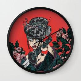 Onna-bugeisha Wall Clock