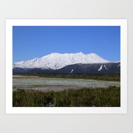 Mount Ruapehu after snowstorm Art Print