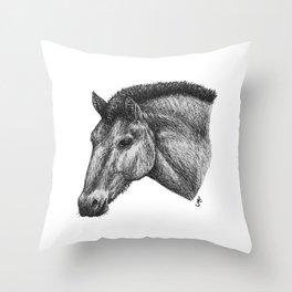 Przewalski's Horse Throw Pillow