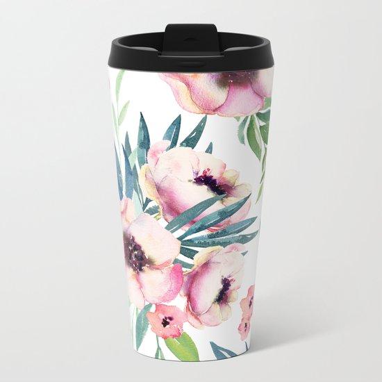 Flowers in Bloom Metal Travel Mug