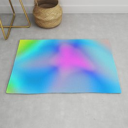 Abstract Colorful Flower Rug