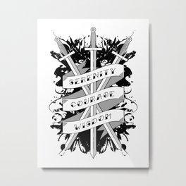 Serenity, Courage & Wisdom Metal Print