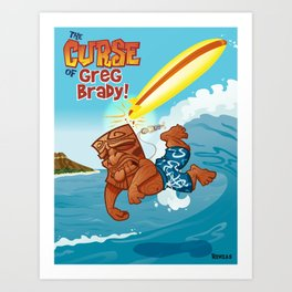 Curse of Greg Brady Art Print