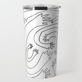 Minimalist Hand Maze Travel Mug
