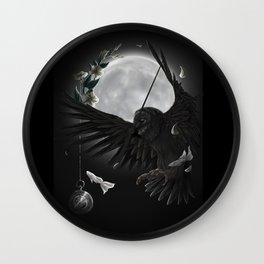 solar owls moon  Wall Clock