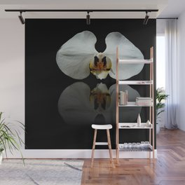 White Reflection Wall Mural