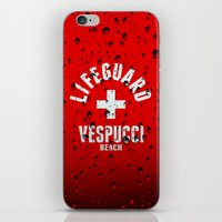grand theft auto iPhone & iPod Skins featuring Los Santos Vespucci Beach Lifeguard Grand Theft Auto by KeenaKorn
