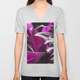 purple leaves Unisex V-Neck