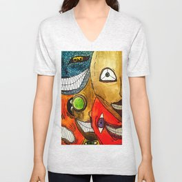 It's scary in here Unisex V-Neck