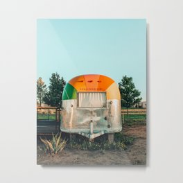 Rainbow trailer in Marfa, West Texas Metal Print