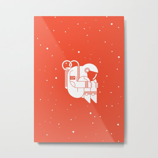 The Cosmonaut Metal Print
