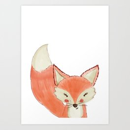 Woodland Cuties || Franny Fox Art Print