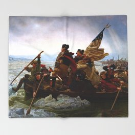 Washington Crossing The Delaware River Throw Blanket