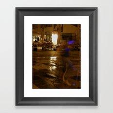 Waiting for the white light Framed Art Print