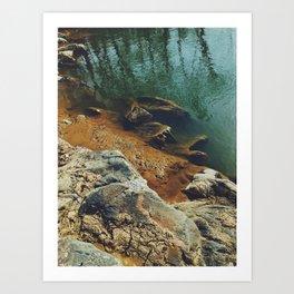 Orange Shore Art Print