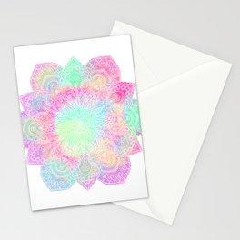 Muted pastel mandala Stationery Cards