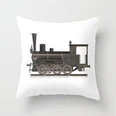 Locomotive Black Max Throw Pillow