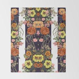 Floral Crossings 02 Throw Blanket