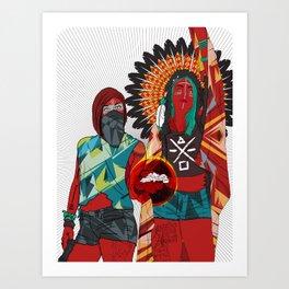 Native Love  Art Print