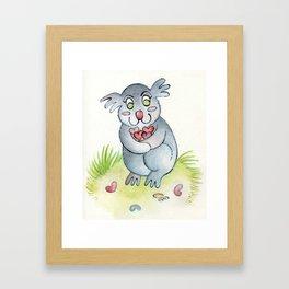 Koala-fied Cuteness Framed Art Print