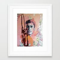 james franco Framed Art Prints featuring James Franco by Katarzyna Typek