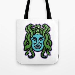 Medusa Greek God Mascot Tote Bag