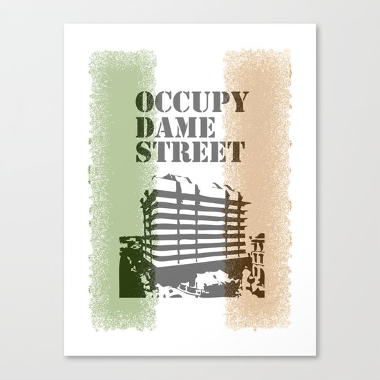 Occupy Dame Street Canvas Print
