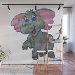 The Happy Elephant Wall Mural